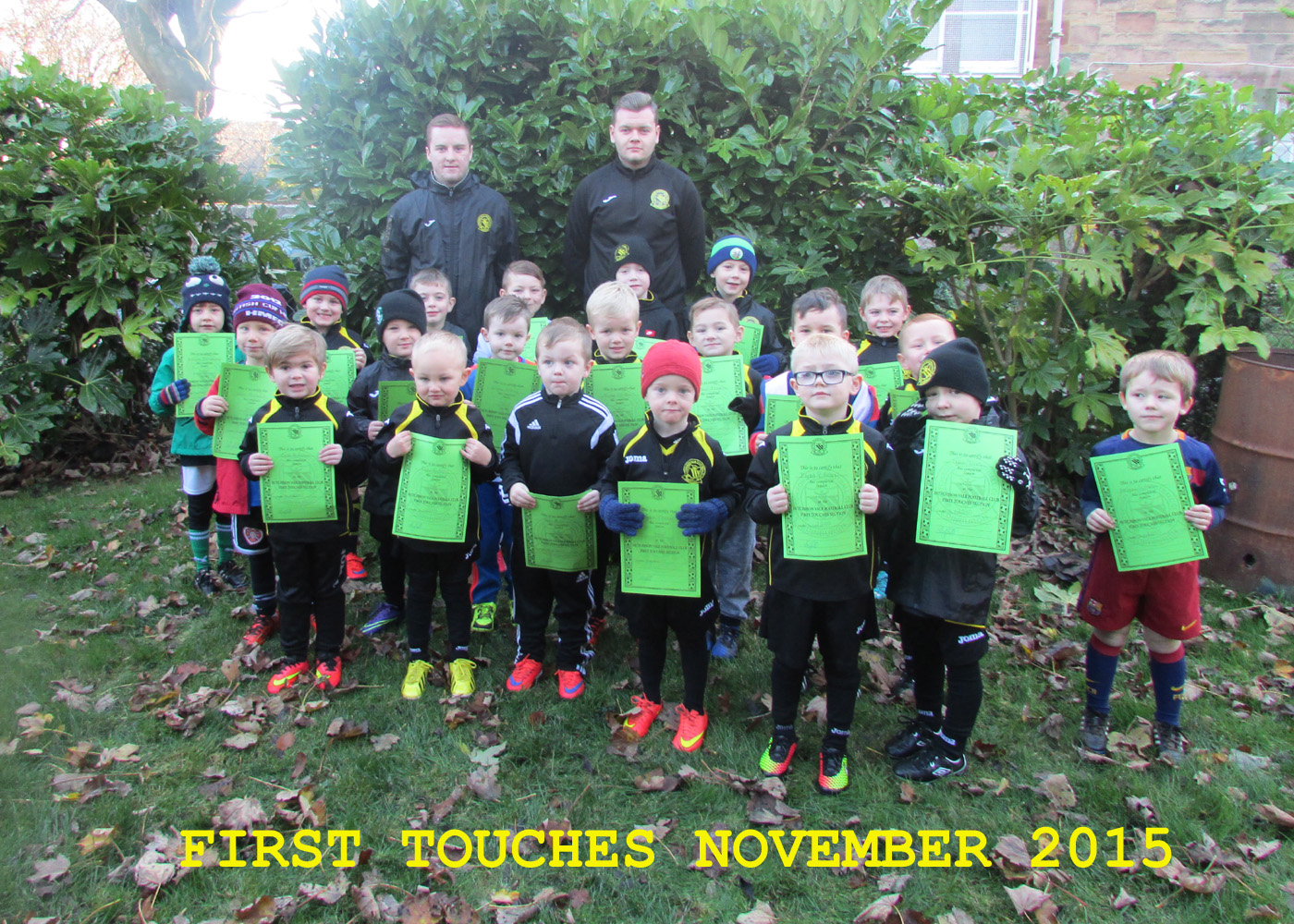 FIRST TOUCHES GROUP NOVEMBER 2015